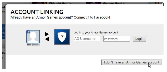 facebook connect armor games
