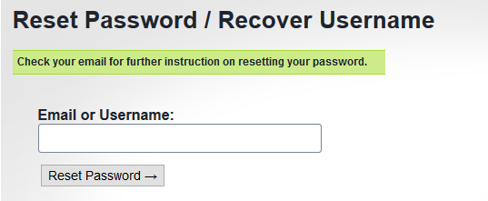 Match forgot password